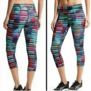 ATHLETA Rainbow Cropped Capri Leggings Size XXS